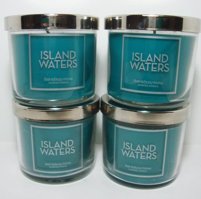 Bath & Body Works Island Waters 4 Oz Candle Lot Of 4