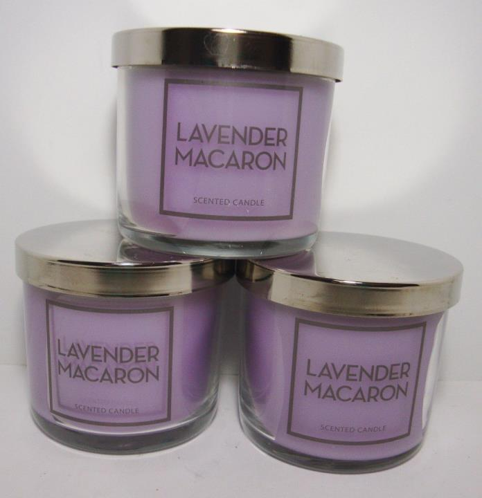 Bath & Body Works Lavender Macaron 4 Oz Candle Lot Of 3