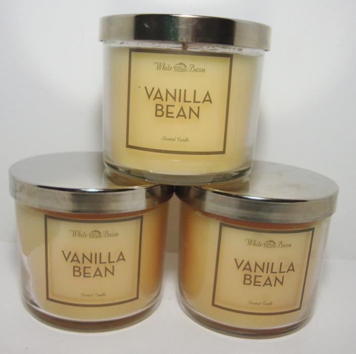 Bath & Body Works Vanilla Bean 4 Oz Candle Lot Of 3