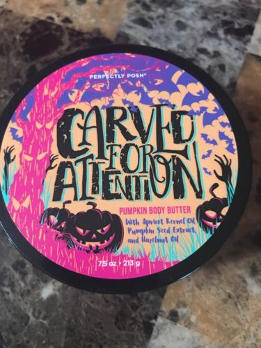 Perfectly Posh Spooky Halloween Pumpkin Body Butter Carved For Attention