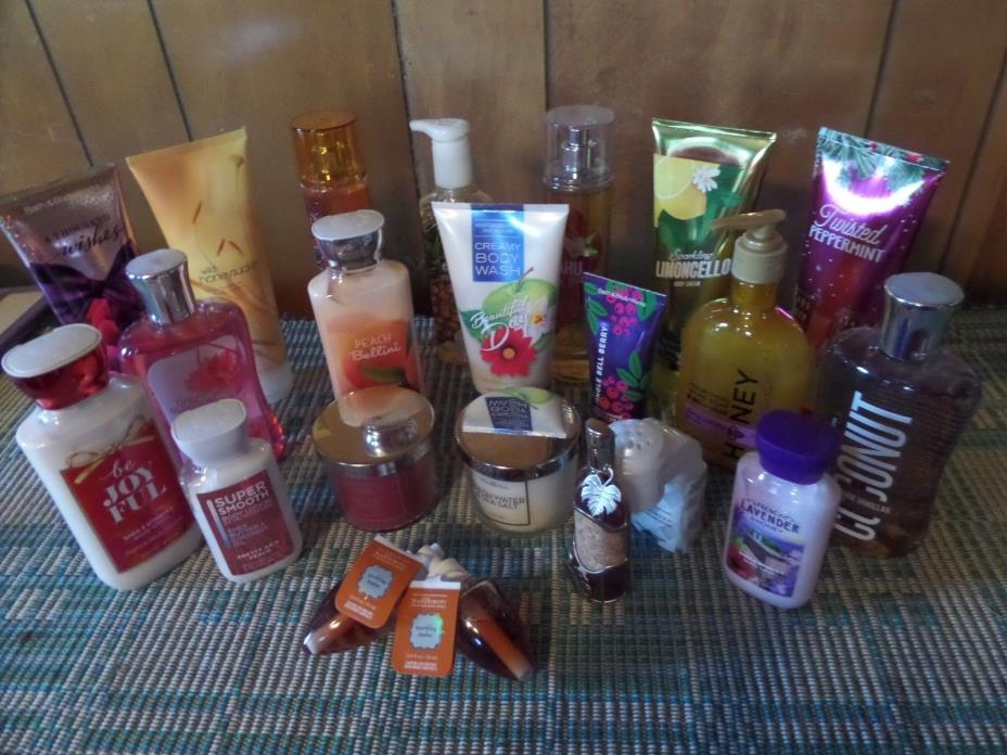 HUGE Mixed Lot of BATH & BODY WORKS Assorted Scents $210.00 Retail Value NEW