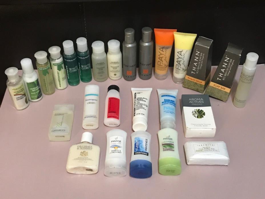 Lot of Hotel Travel Sample Size Toiletries Shampoo/Conditioner/Lotion/Soap Bath