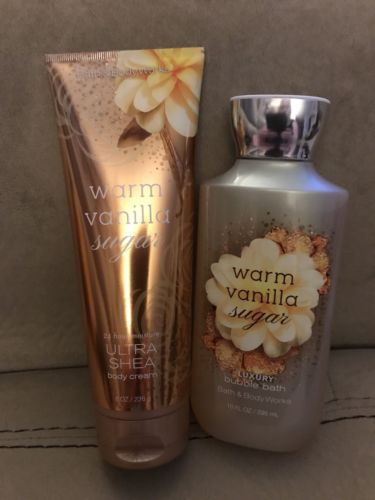 2 Full Size Bath & Bodyworks Warm Vanilla Sugar Scented Items