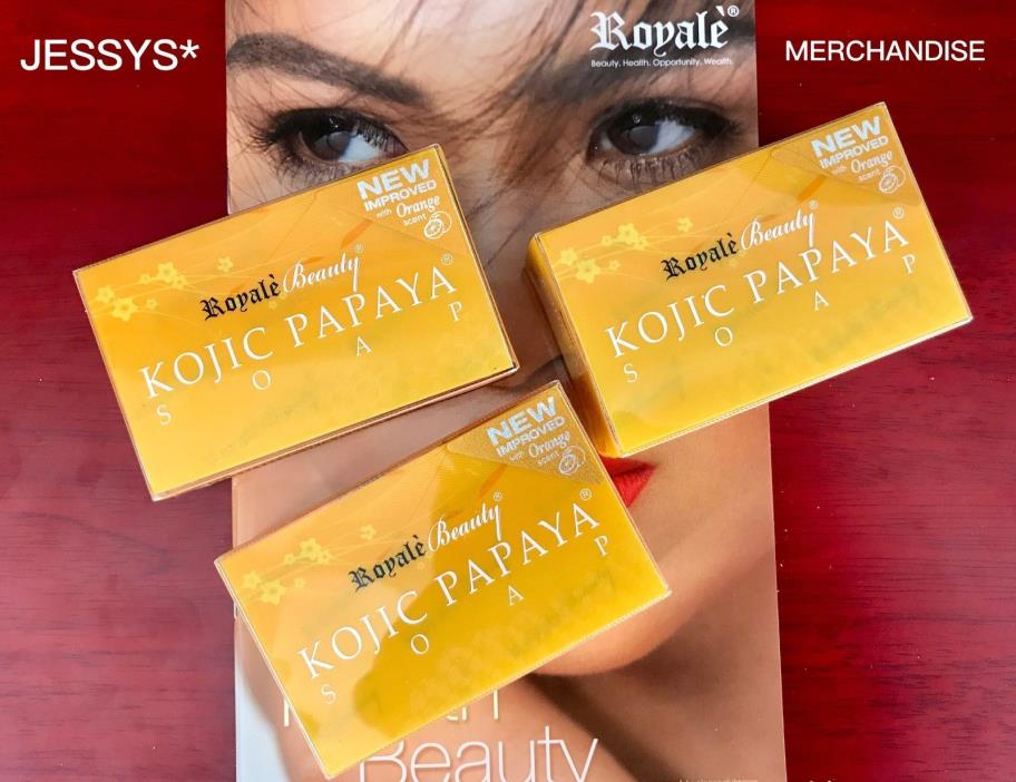 3 ROYALE KOJIC PAPAYA SOAP! FREE SHIPPING!!