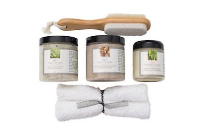Herbal foot Kit Herbal Soak Walnut Scrub Peppermint Balm Set 3 NIP