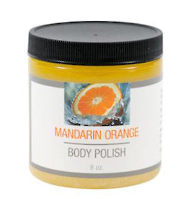 Orange Mandarin Body Polish Sugar Oil Honey Blend 8 oz NIP