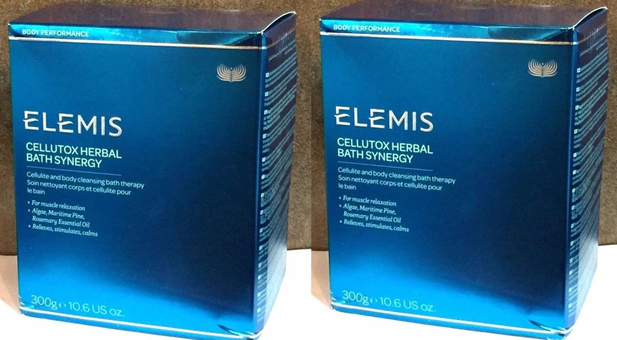 Set of 2 Elemis Cellutox Herbal Bath Synergy - 10.6oz / 300g - 10 packets NIB
