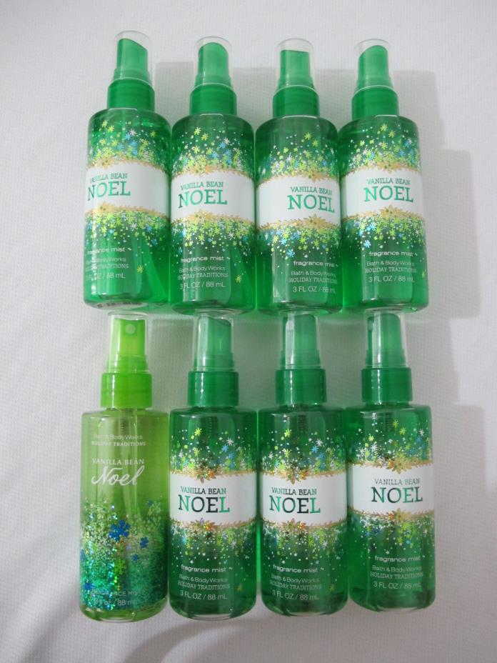 (8) NEW Bath & Body Works Vanilla Bean Noel Mini Body Mist (3 fl oz ea.) FRE SHP