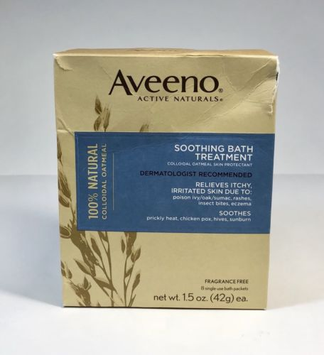 Active Naturals Soothing Bath Treatment Fragrance Free 8 1.5oz Packets FAST SHIP
