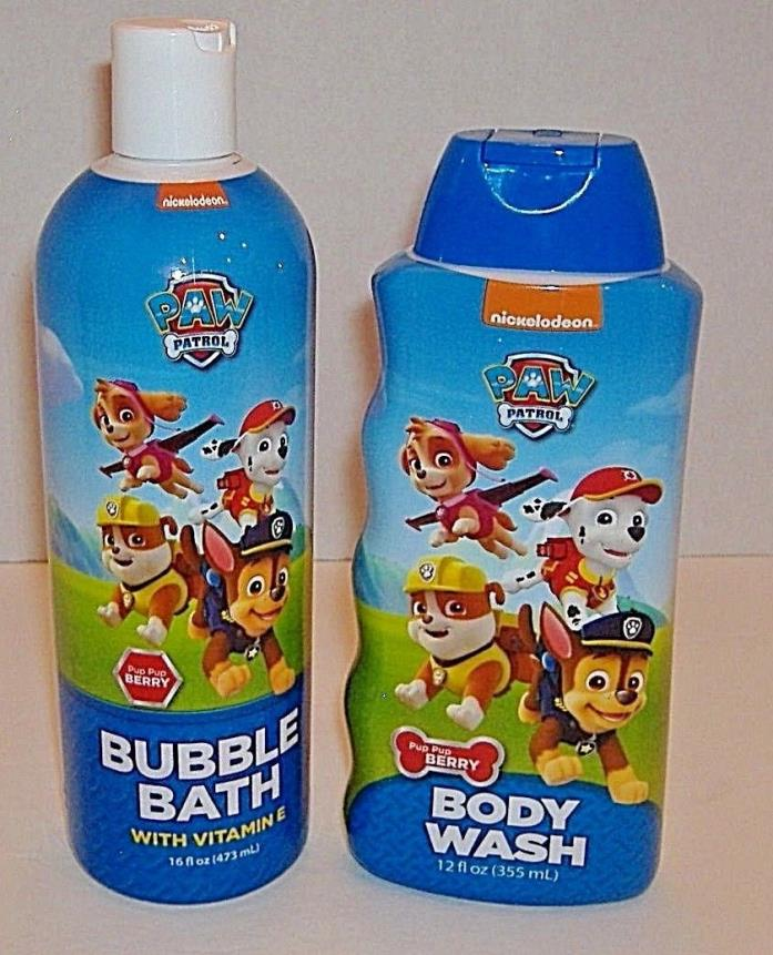 Nickelodeon Paw Patrol Pup Pup Berry Body Wash & Bubble Bath with Vitamin E-New