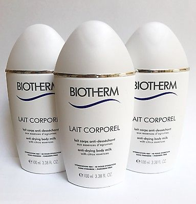 3X = 300ml NEW BIOTHERM LAIT DE CORPOREL ANTI-DRYING BODY CARE Citrus Extracts