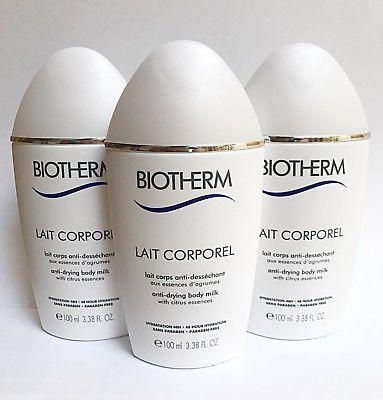 3X = 300ml NEW BIOTHERM LAIT DE CORPOREL ANTI-DRYING BODY CARE Citrus Extracts