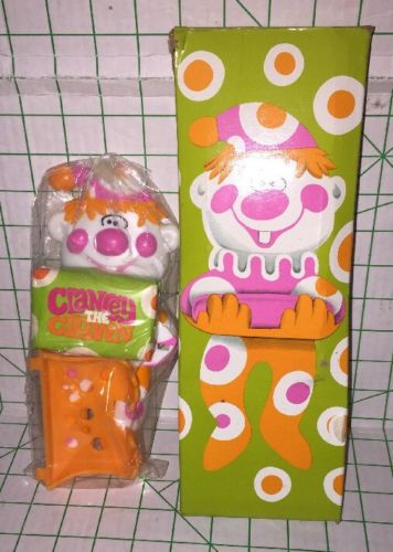 New In Package AVON 1973  CLANCeY THE CLOWN SOAP Dish HOLDER With BOX