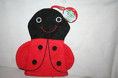 Brand New Lady Bug Bath Puppet Black & Red (not for Children under 18 months)