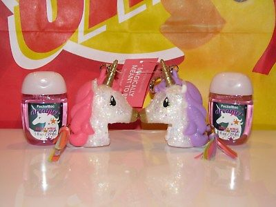 BBW POCKETBAC Gel Holder MAGICALLY MEANT TO BE Unicorn BFF & Dreamer Anti Bac