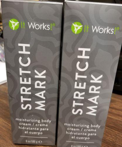 It works Stretch mark Moisturizing Body cream 6 oz lot of 2 new
