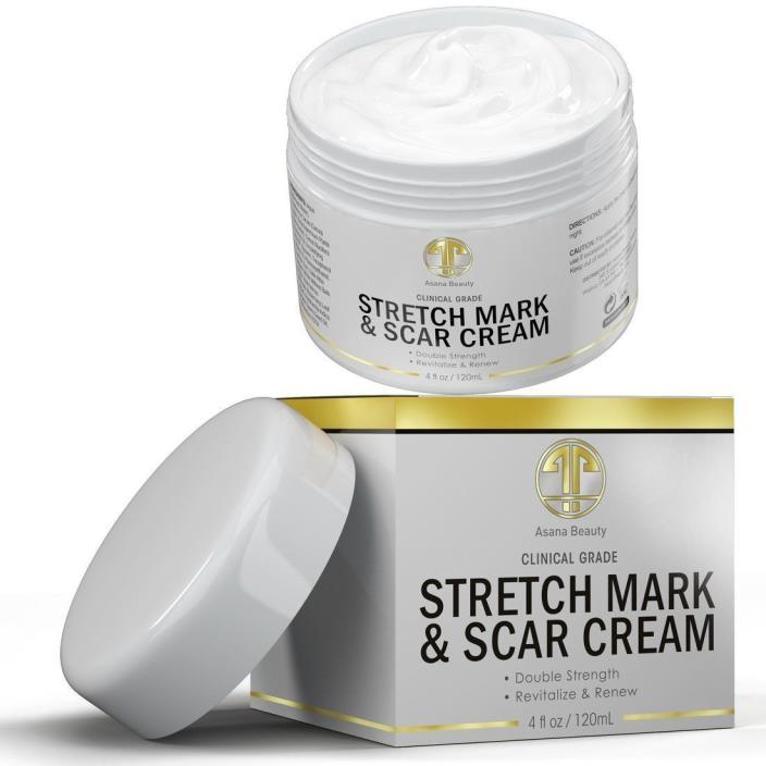 Best Stretch Mark Cream HUGE 4OZ - For Removal & Prevention of new and old  B