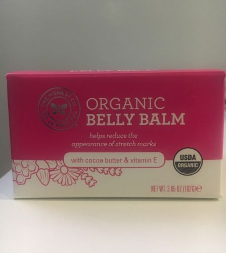 The Honest Company Organic Belly Balm Unscented 3.65 oz Pregnancy Stretch Marks
