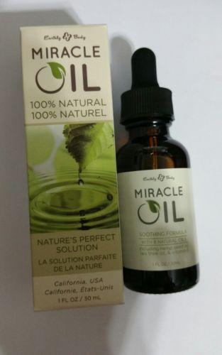 Earthly Body 100% Natural Miracle Oil 1 oz for Scars, Buy 1 Get 1 Free!(Two)