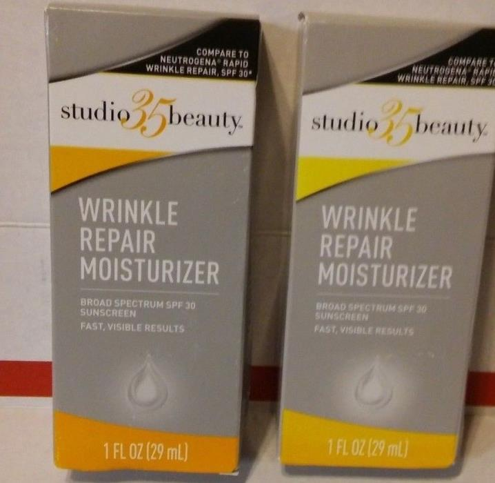 2 STUDIO 35 BEAUTY WRINKLE REPAIR MOISTURIZER 1oz ea SPF 30 FREE SHIPPING