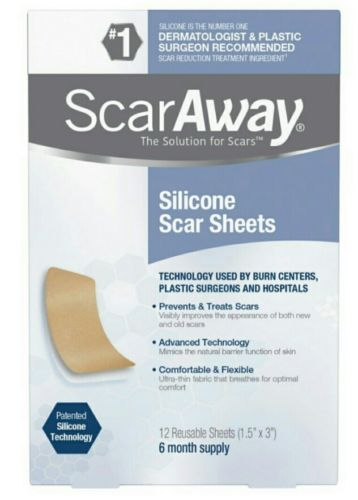 ScarAway Long 12 Silicone Scar Sheets 6 month supply Exp 12/2021