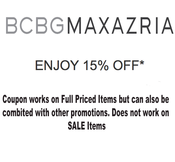 BCBG 15% Off Purchase Coupon - Exp 2/9/18
