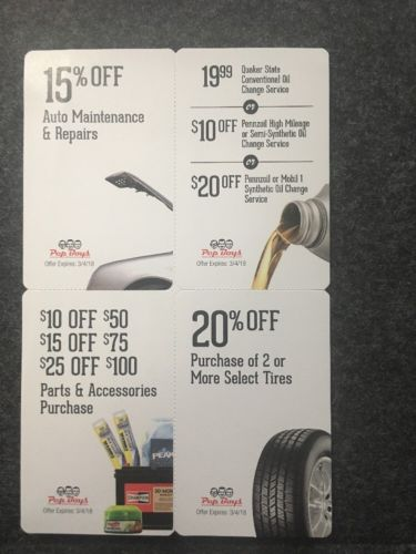 Pep Boys Coupons Parts And Accessories Purchase, Tires, Oil Change Etc. Look Pic
