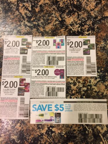 Adult Incontinence Products Coupons lot Depend Tena Poise $15