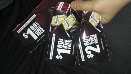 Winston Cigarette Coupons- 2X $1 Off Pck, 1X $2 Off 2 Packs, SHIPPING ON ME!
