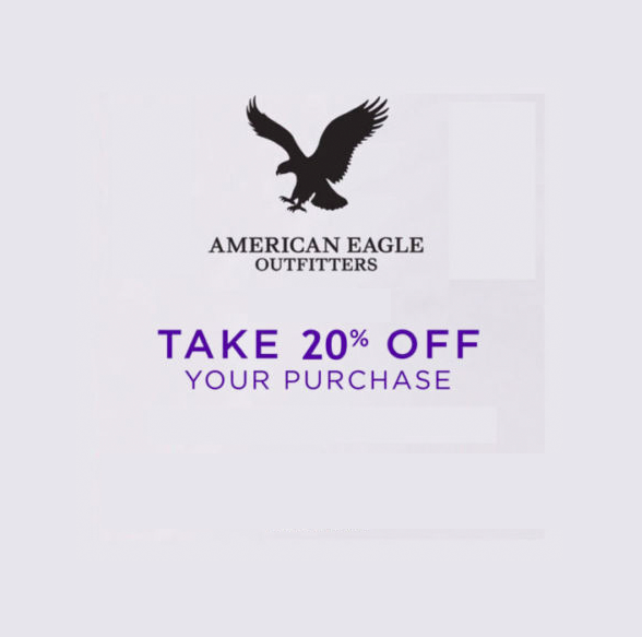American Eagle AE 20% OFF Coupon Expire 1/19/18