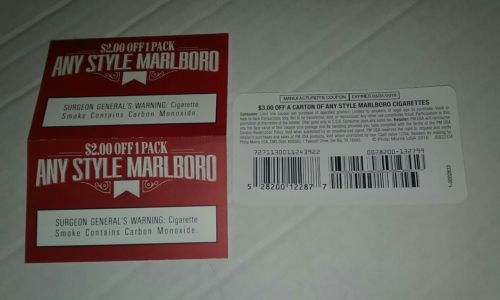 Marlboro Coupons Three total savings $7  Expires March 2018