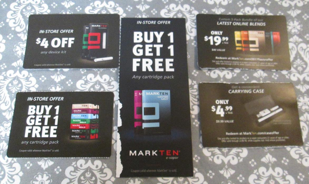Lot of MarkTen (3) Coupons and (2) Online Offers Read for all EXP Dates