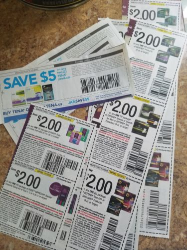 Tena, Poise, and Depends coupons