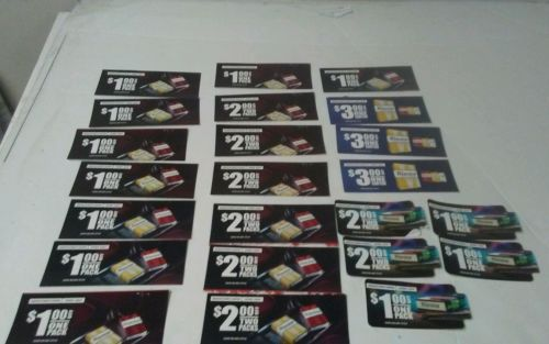 LOT OF 23 WINSTON CIGARETTE COUPONS CARTONS & PACKS $37.00 VALUE