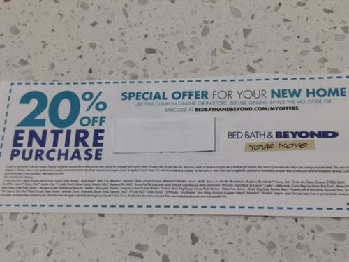Bed Bath&Beyond 20% Off ENTIRE PURCHASE (Online+In-Store) Exp.03/01/18 + bonus