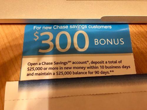 Chase Coupon 300 Saving Account till 3/3