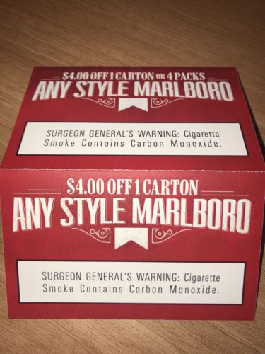 2 Marlboro Coupons $8.00 Off Exp 3/31/18