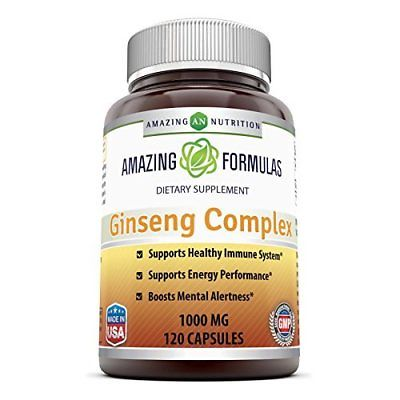 Amazing Nutrition Ginseng Complex - 1000mg per serving, 120 Capsules Per Bottle