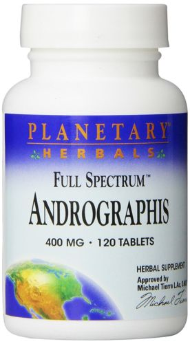 Planetary Herbals Andrographis Full Spectrum 400Mg 120 Tablets (Pack of 6)