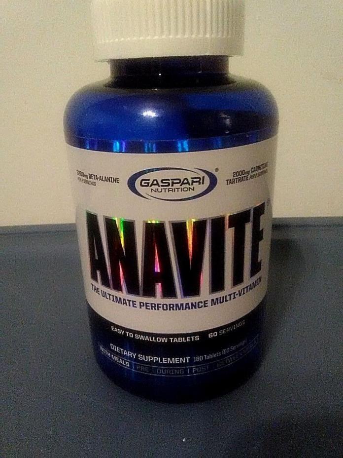 GASPARI ANAVITE Multivitamin/Mineral & Amino Acid Complex, 180 Tablets - NEW