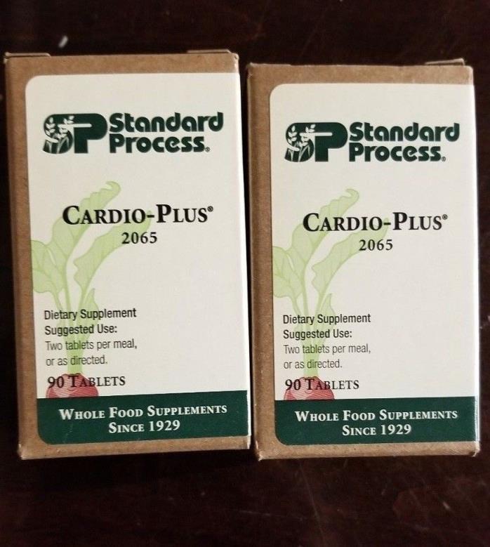 Bulk LOT of 2 -- Standard Process Cardio-Plus 2065 90 Tablets - cardiovascular