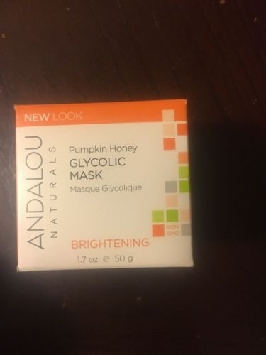 Pumpkin Honey Glycolic Brightening Mask Andalou Naturals 1.7 oz Cream