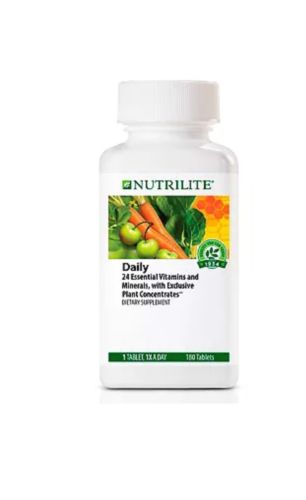 Nutrilite Daily 24 Essential Vitamins and minerals Gluten free 180 tabs 1x day