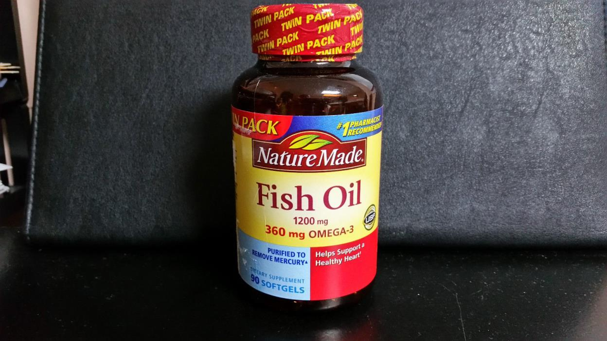 NATURE MADE  1200 mg FISH OIL with 360mg OMEGA-3 90 SOFTGELS  Exp 05/19