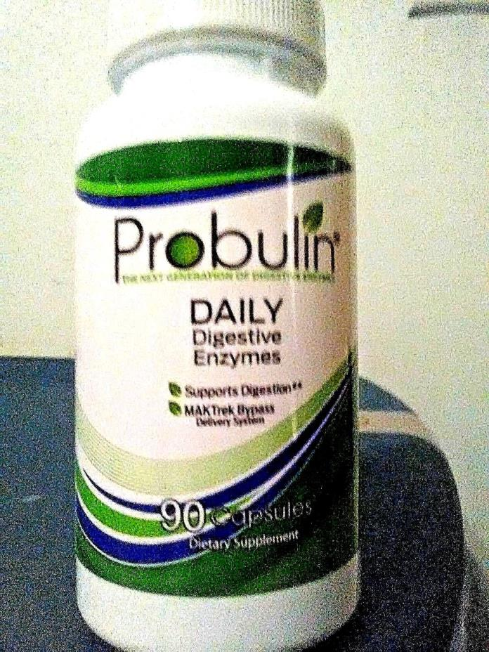 Probulin Daily Digestive Enzymes Digestion Support  90 Capsules, Non-GMO.