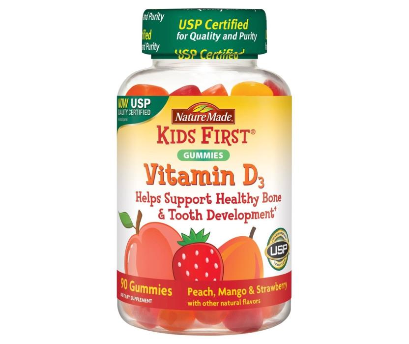 Nature Made Kids First Gummies Vitamin D3 90 Count New Sealed Exp. 08/18