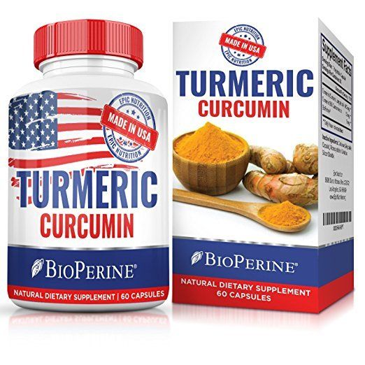 Extra Strong Turmeric Curcumin Blend w/Bioperine - 2-Month Supply - Made In USA!