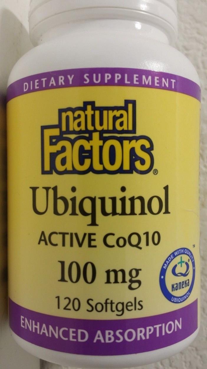 Natural Factors Ubiquinol 100 mg 120 softgels FREE shipping