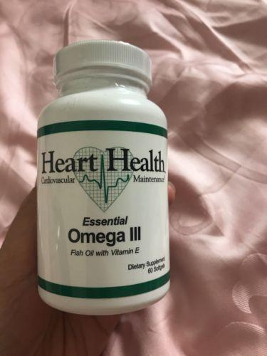 New Authentic Heart Health Omega-3 with vitamin E Market America Fish Oil 60soft