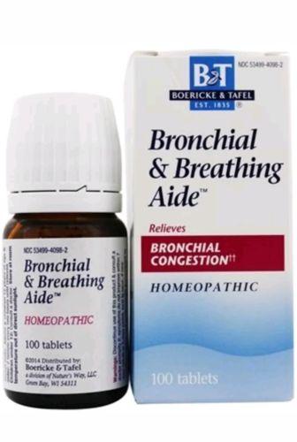 Bronchial & Breathing Aide, Boericke & Tafel, 100 tablets Bronchial Congestion